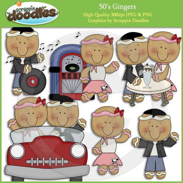 Fifties Gingers Clip Art Download