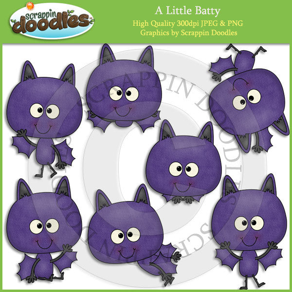 A Little Batty Clip Art Download