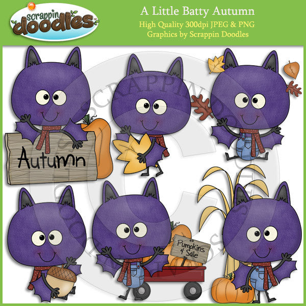 A Little Batty Autumn Clip Art Download