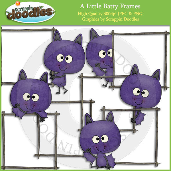 A Little Batty Frames Clip Art Download