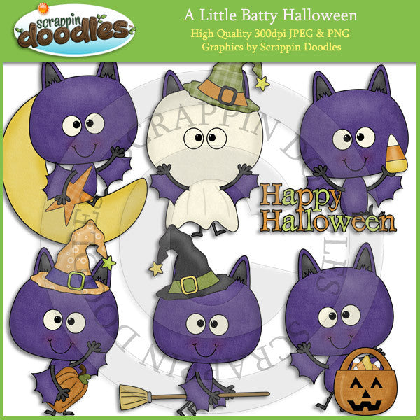 A Little Batty Halloween - Bat Clip Art Download
