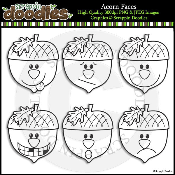 Acorn Faces - Emotions Clip Art Download