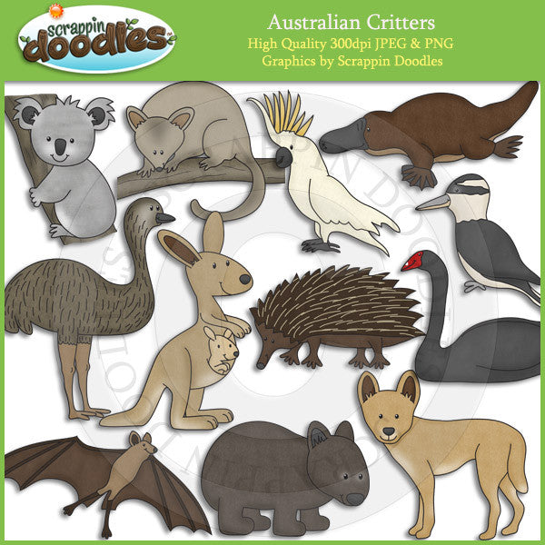Australian Critters - Australia Animal Clip Art Download