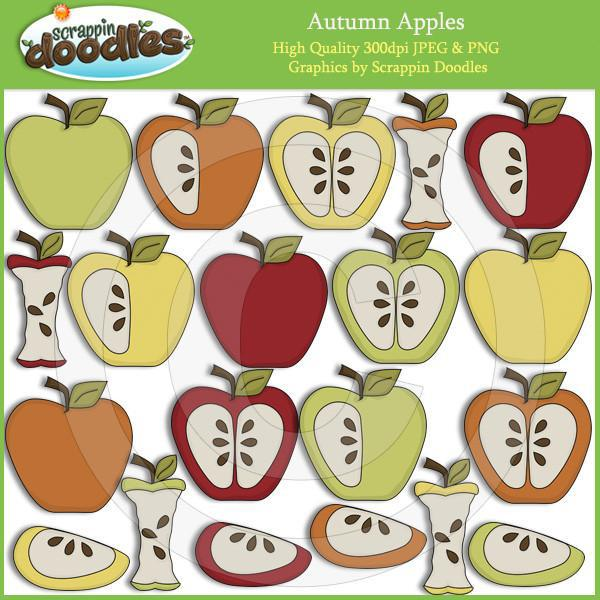 Autumn Apples - Fall Seasonal Clip Art