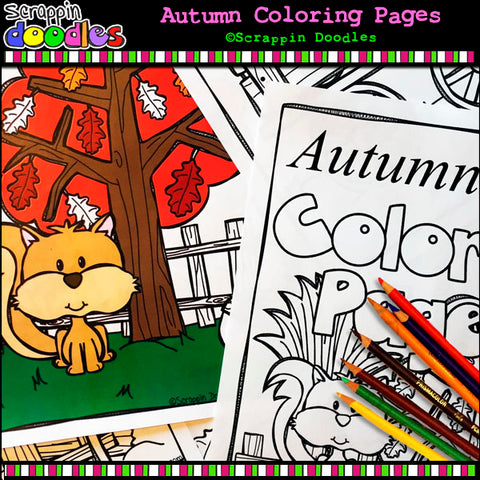 Autumn Coloring Pages - Fall Seasonal Kids Coloring Book