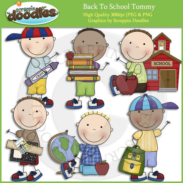 Back To School Tommy Clip Art Download