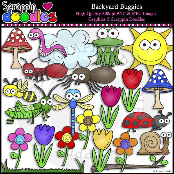 Backyard Buggies Clip Art & Line Art