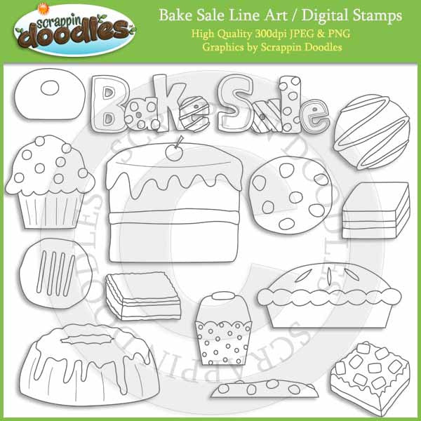 Bake Sale - Bakery Food Clip Art