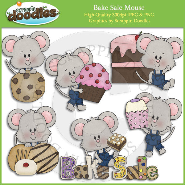 Bake Sale Mouse Clip Art Download