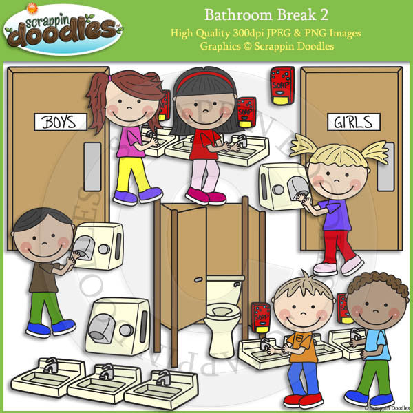 Bathroom Break 2 - Hygiene Clip Art