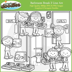 Bathroom Break 2 - Hygiene Clip ArtBathroom Break 2 - Hygiene Clip Art