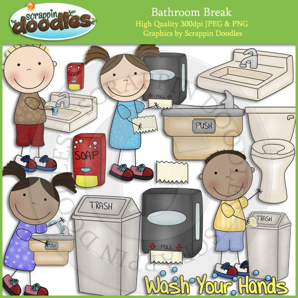 Bathroom Break - Hygiene Clip Art Download