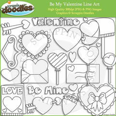 Be My Valentine - Valentine's Day Clip Art