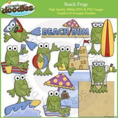 Beach Frogs Clip Art Download