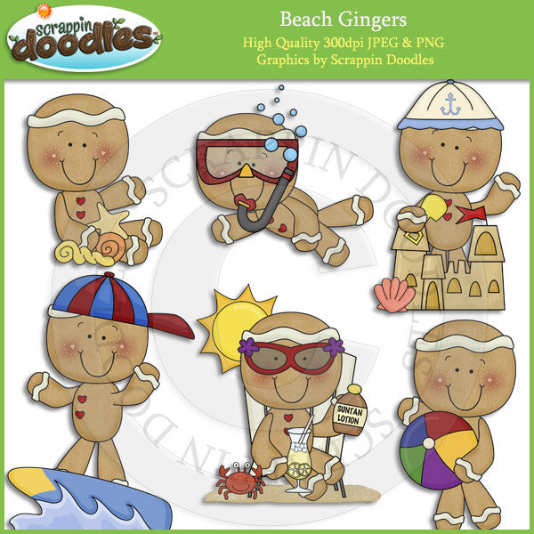 Beach Gingers Clip Art Download