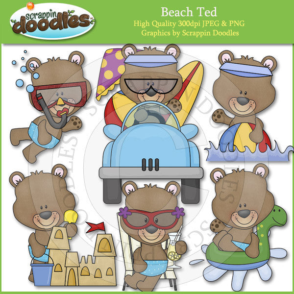 Beach Ted Clip Art Download