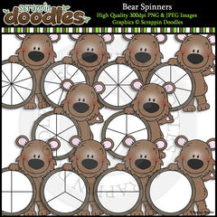Bear Spinners - Cute Math Game Clip Art Commercial Use