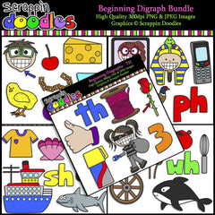 Beginning & Ending Digraph Clip Art Bundle