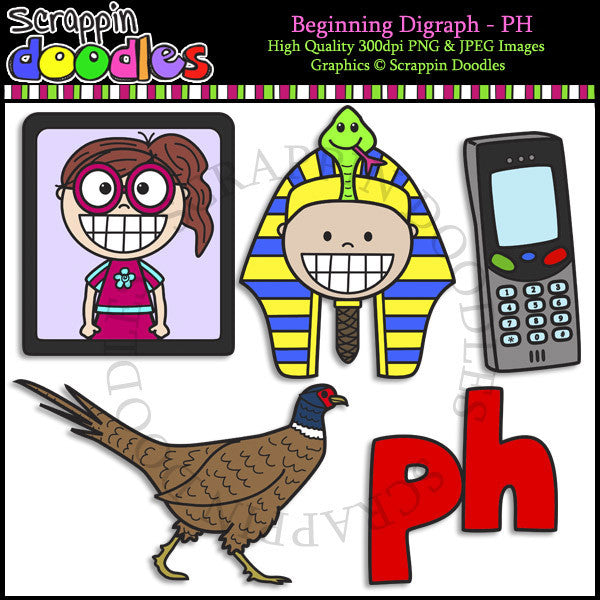 Beginning & Ending Digraph PH Clip Art Bundle