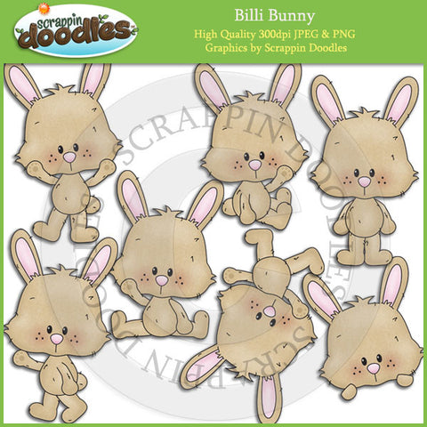 Billi Bunny - Cute Rabbit Clip Art