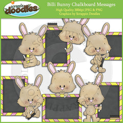 Billi Bunny Chalkboard Messages Clip Art Download