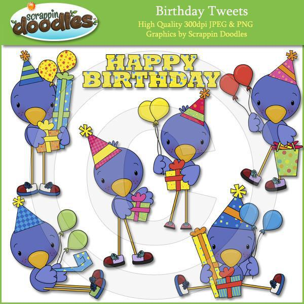 Birthday Tweets Clip Art Download