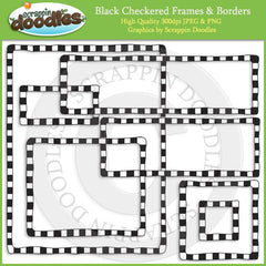 Black Checkered Borders & Frames