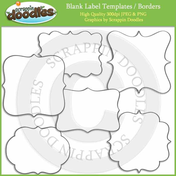 Blank Labels / Borders Line Art Download