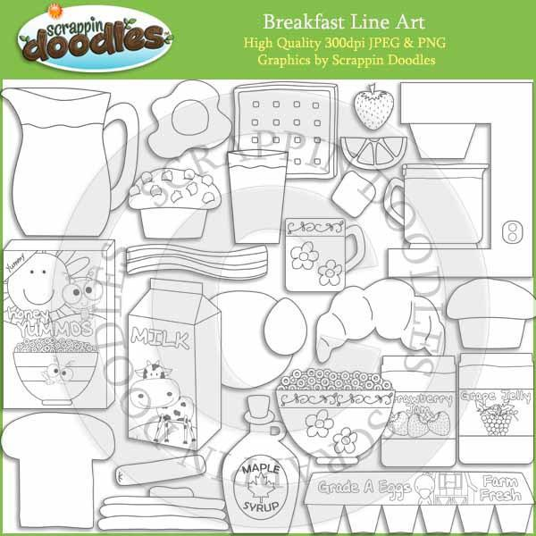 Breakfast Time - Food Clip Art