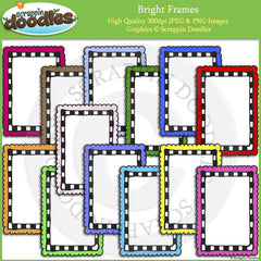 Bright Doodle Frames / Borders Bundle