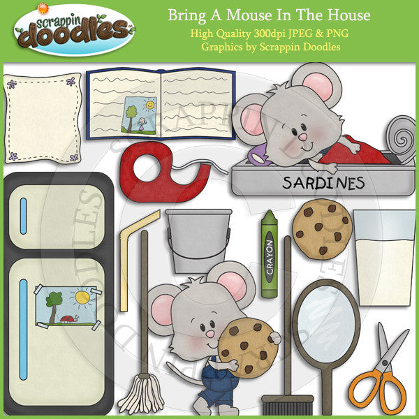 Bring A Mouse In The House Clip Art