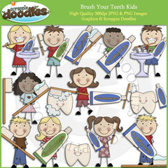 Brush Your Teeth Kids Clip Art Download