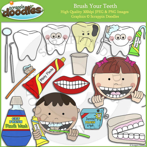 Brush Your Teeth - Hygiene Clip Art
