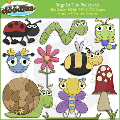 Bugs In The Backyard - Cute Insect Clip Art