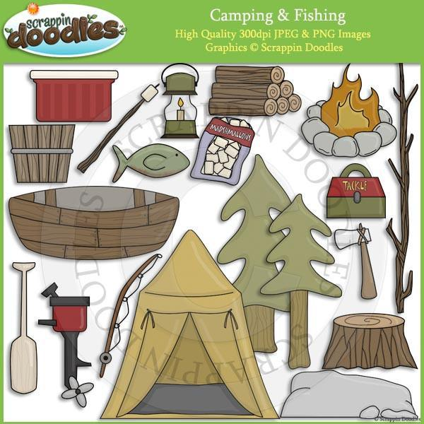 Camping & Fishing Clip Art Download