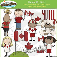 Canada Day Kids Clip Art Download