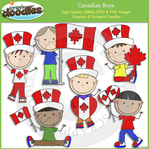 Canadian Boys Clip Art