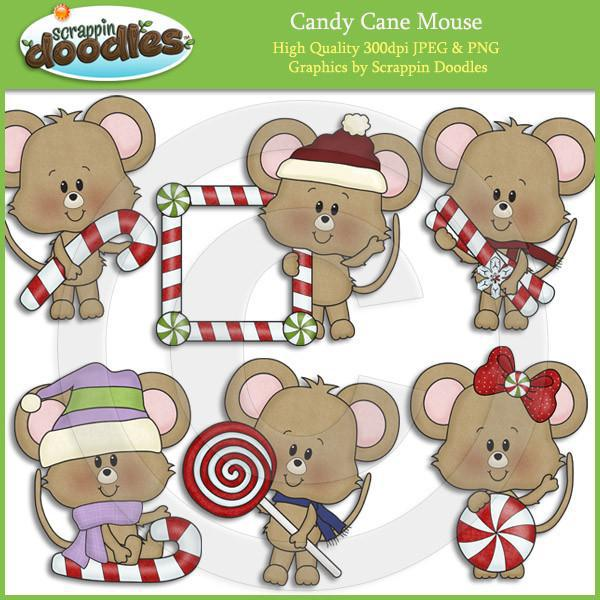Candy Cane Mouse Clip Art Download