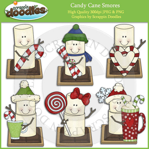 Candy Cane Smores Clip Art Download