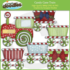 Candy Cane Train Clip Art Download