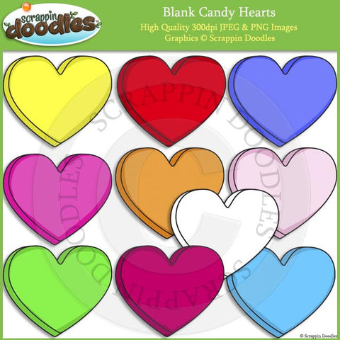 Blank Candy Hearts Clip Art