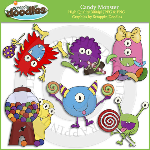Candy Monster Clip Art Download