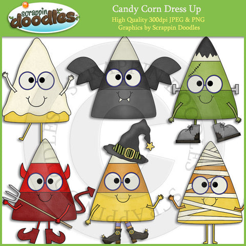 Candy Corn Dress Up Clip Art Download