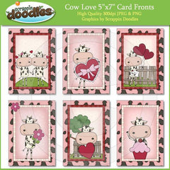 Cow Love 5x7 Card Fronts Download