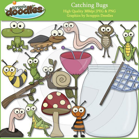 Catching Bugs Clip Art Download