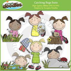 Catching Bugs Susie Clip Art Download