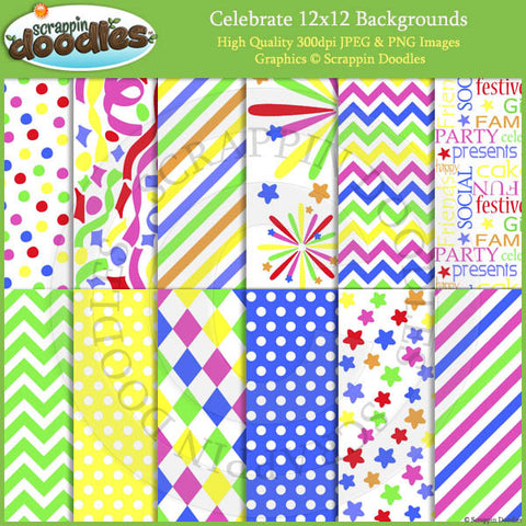 Celebrate 12x12 Backgrounds Download