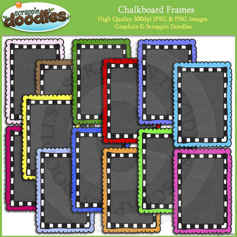 Chalkboard Frames / Borders Bundle