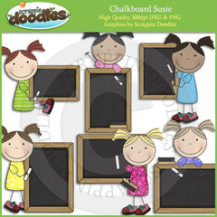 Chalk Board Susie Clip Art Download