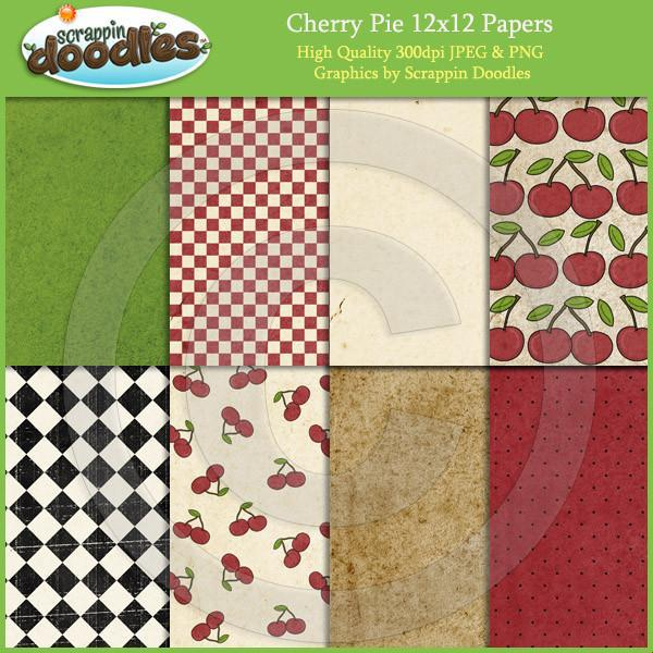 Cherry Pie 12x12 Papers Download